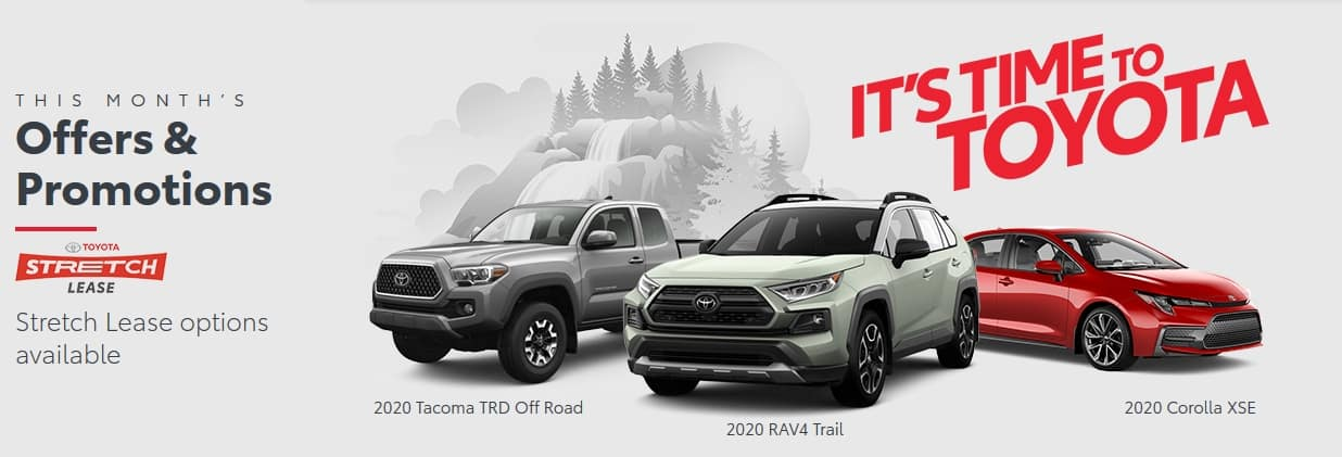 It's Toyota Time with Stretch Leasing on Cars and Trucks | Only at Sean Sargent Toyota