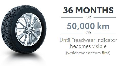 Toyota ECP Tire Road Hazard Warranty