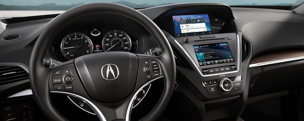 2019 mdx infotainment and steering wheel