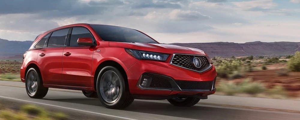2019 mdx a-spec on highway
