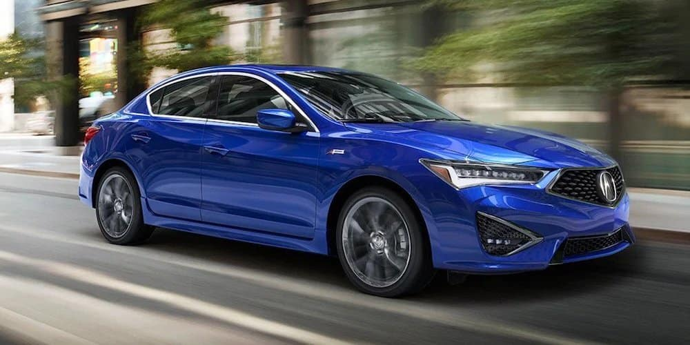 Blue 2019 Acura ILX on City Street