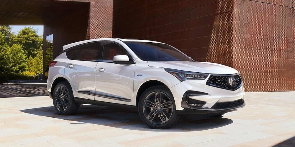 White 2020 Acura RDX Parked Outside