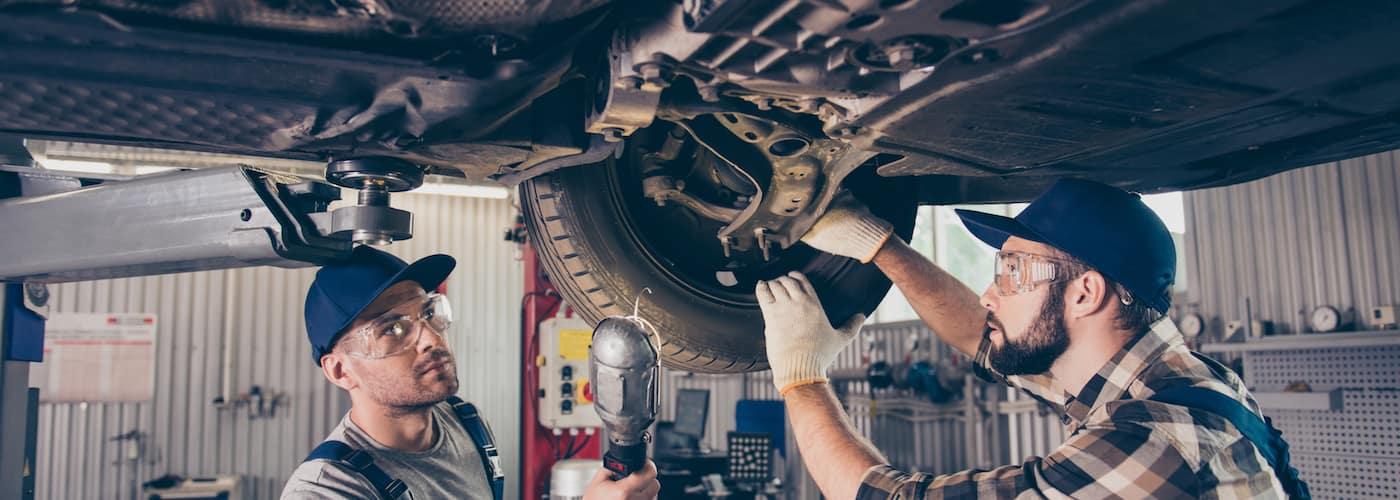 Mechanics Aligning Vehicle