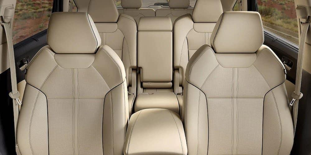 White Leather Interior 2020 Acura MDX