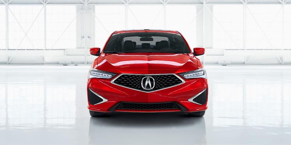 Red Acura ILX Head-On View