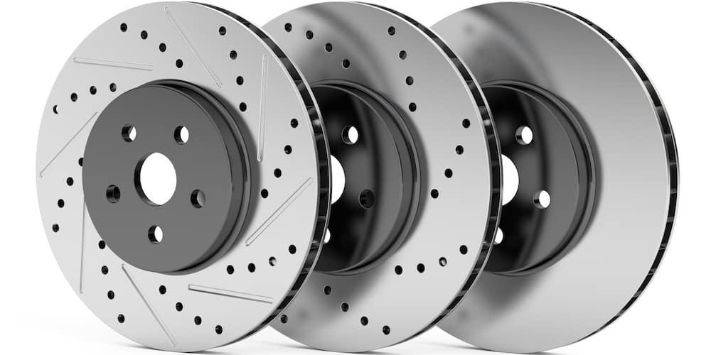 Disc Brake Rotors Lined Up