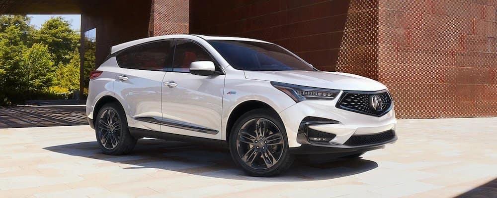White 2020 Acura RDX Parked