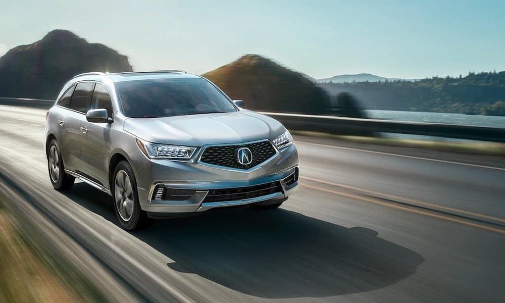 Silver 2020 Acura MDX on Highway Corner