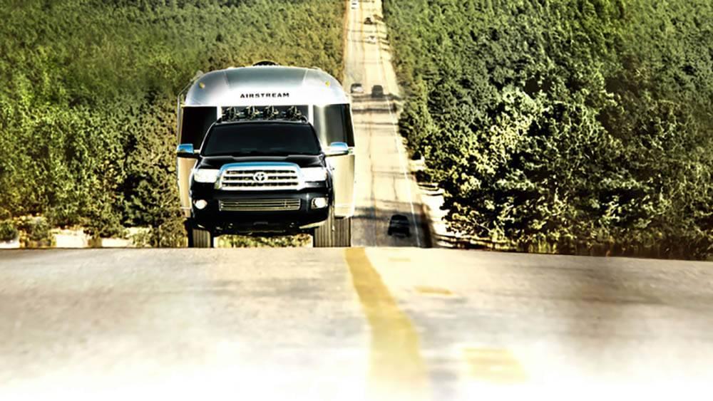 2017 Toyota Sequoia pulling a camper