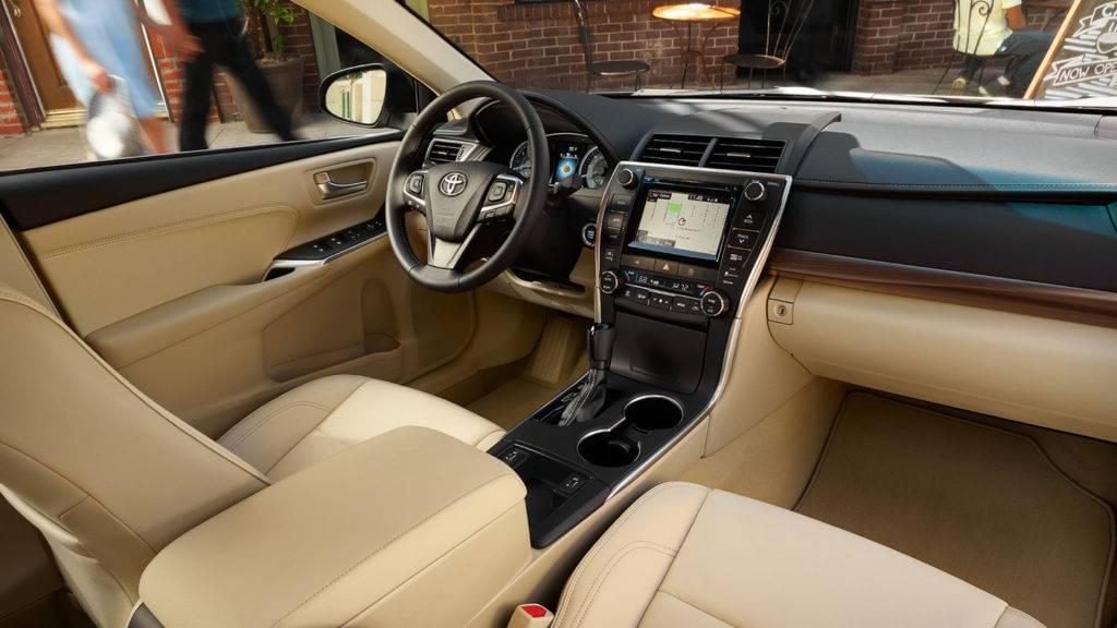 Interior of the 2017 Toyota Camry