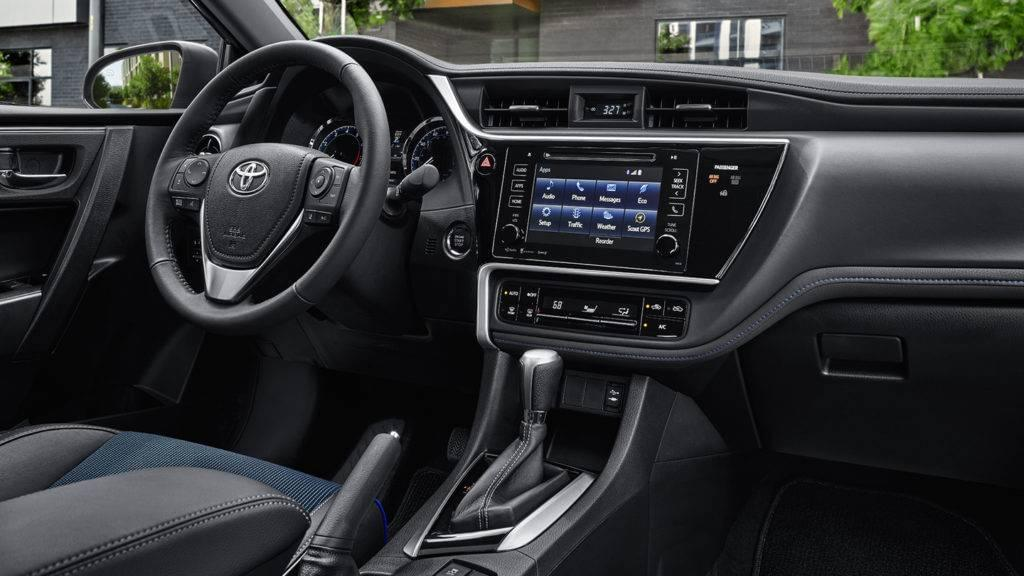 2017 Toyota Corolla interior shot of the dashboard