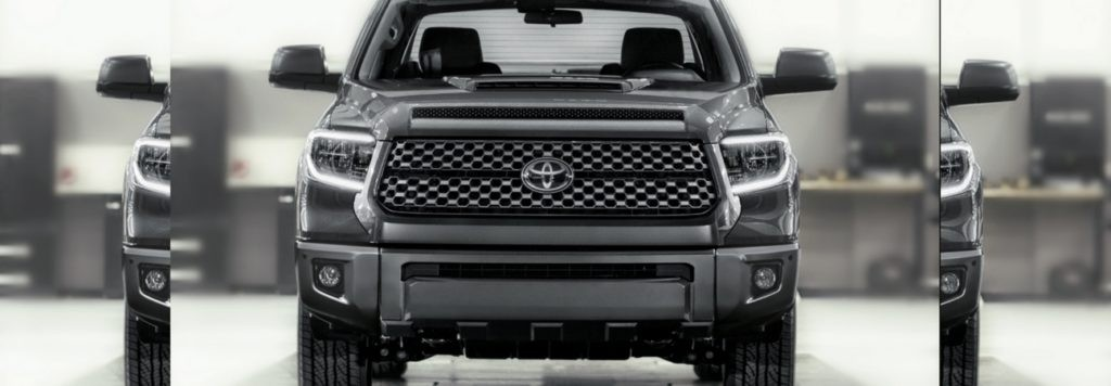 The Front Of A 2018 Toyota Tundra TRD Sport.