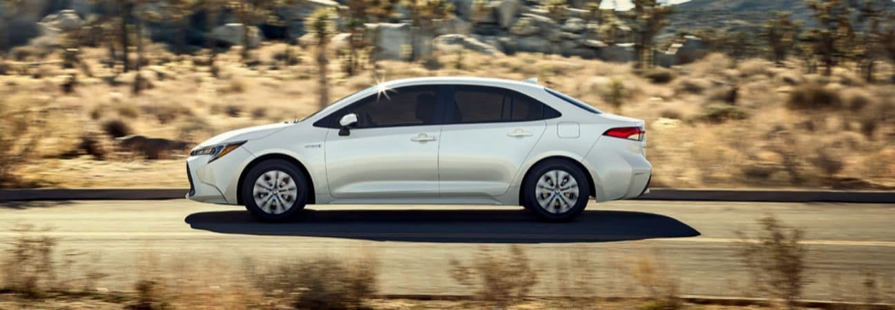 Silver Toyota Corolla Hybrid