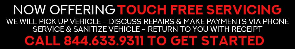 Now offering touch free servicing