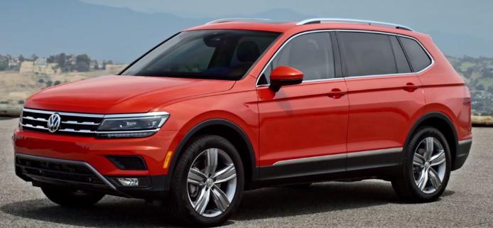The 2018 Volkswagen Tiguan, in a blog post about the Volkswagen Atlas.