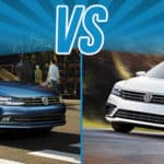 A custom image of the 2018 Volkswagen Jetta compared to the Passat
