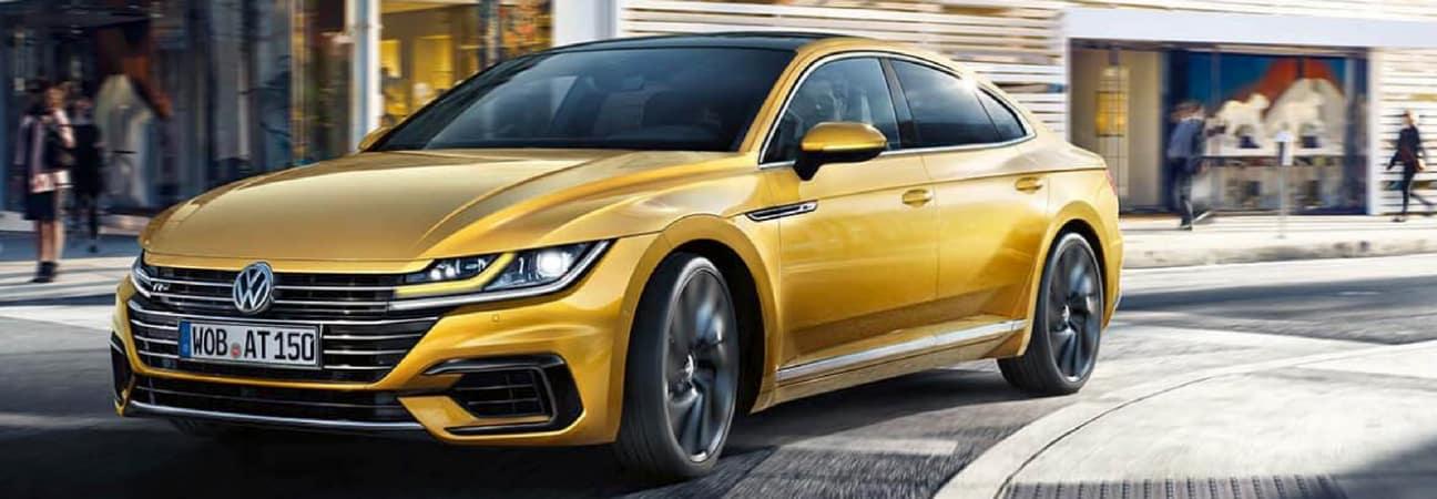 2019 Volkswagen Arteon rounding a street corner