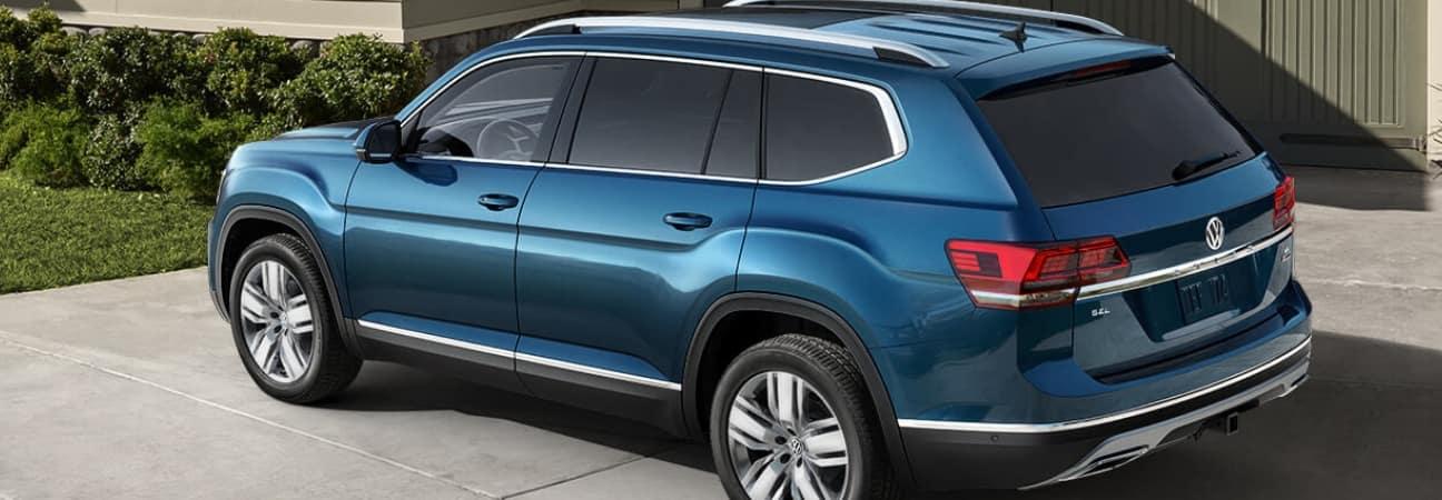 Blue 2019 Volkswagen Atlas parked in driveway