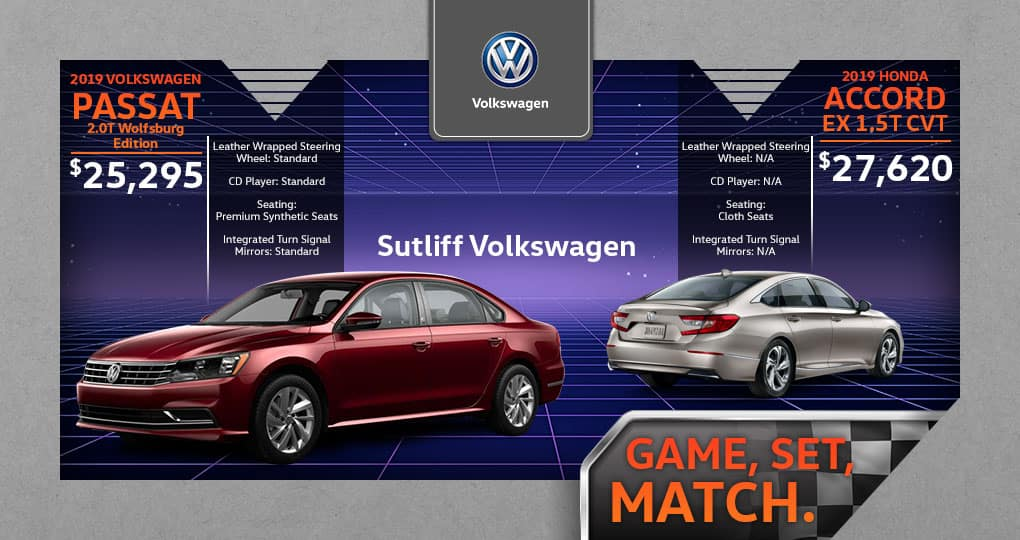 Standard Vs Full Size Car >> 2019 Vw Passat Vs 2019 Honda Accord Sutliff Volkswagen