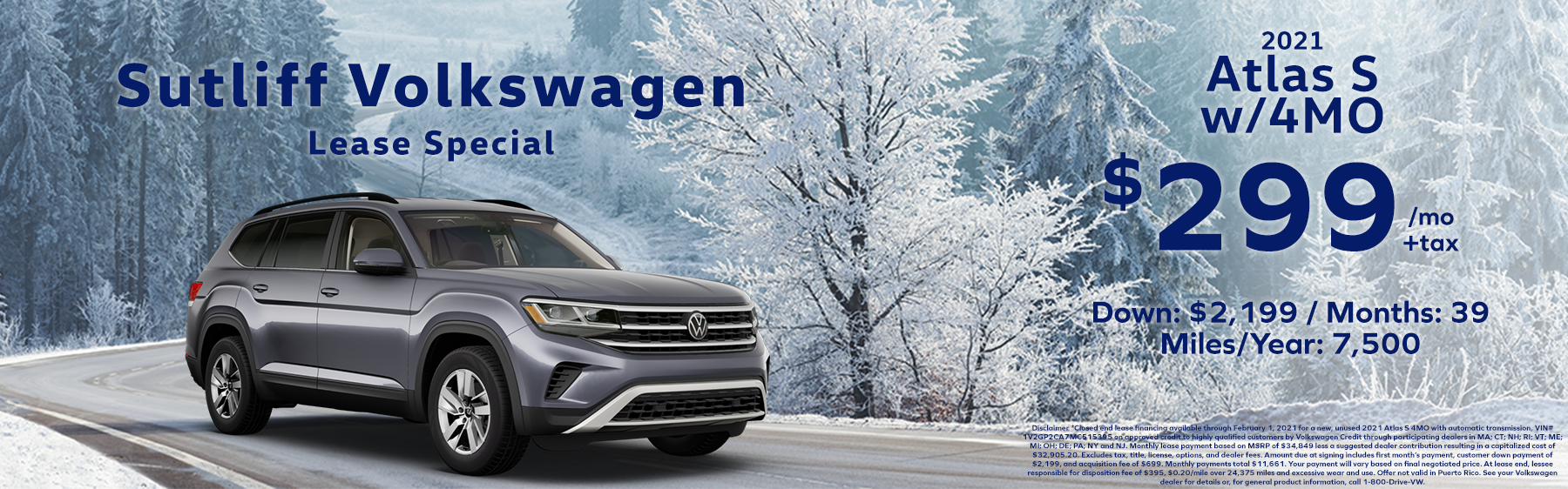 Sutliff VW_Atlas Lease Special_Jan 2021