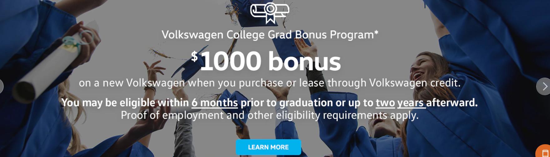 $1000 Grad Bonus
