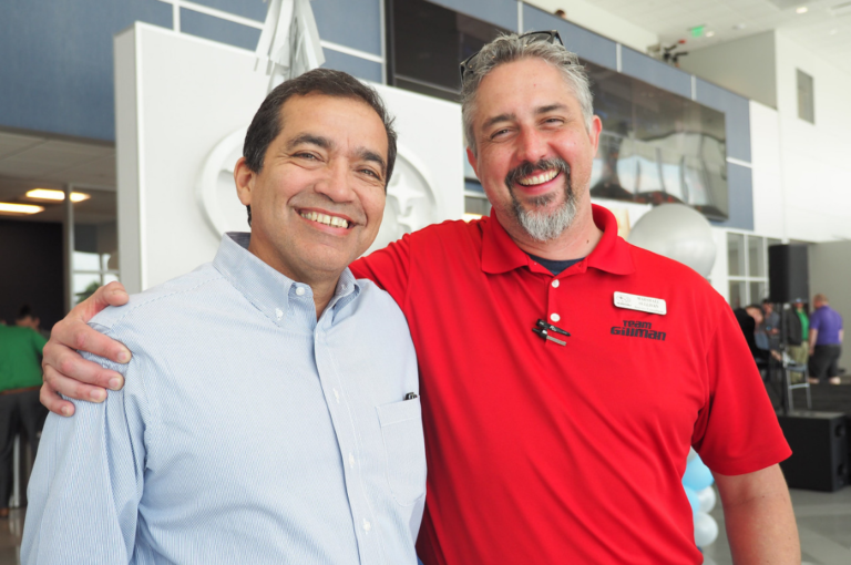 staff smiling together