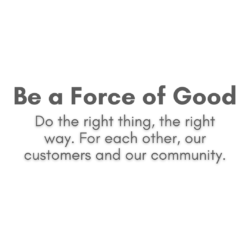 Be a force for good text