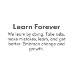 Learn forever text