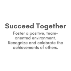 Succeed together text