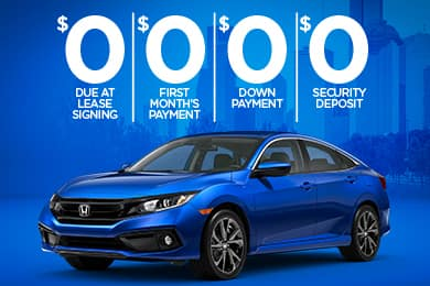 Lease a New 2020 Civic for $214/Month