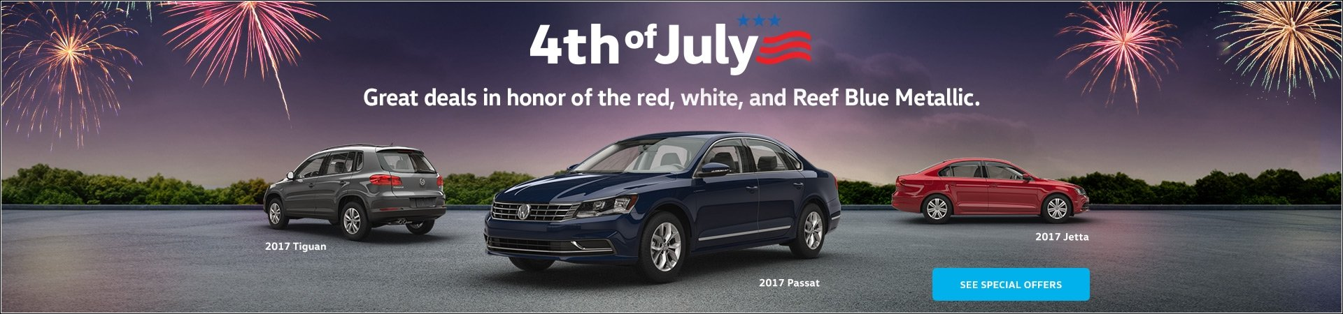 Fourth of July Sales Event Banner