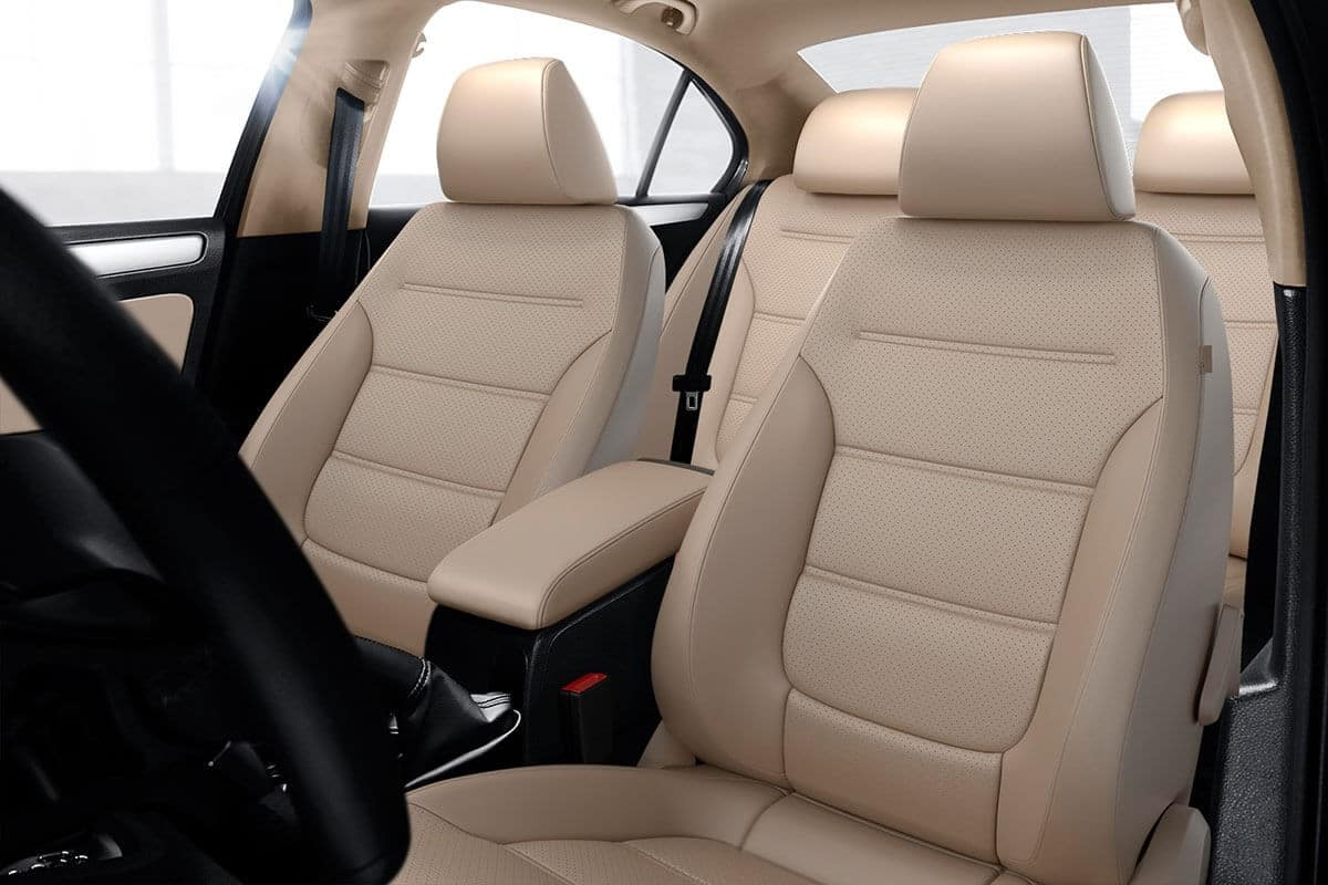 2018 Volkswagen Jetta Beige Leather Interior