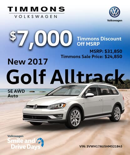New 2017 Golf AllTrack SE AWD Automatic