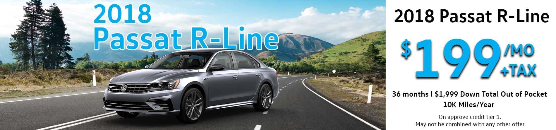 2018 Passat R-Line Homepage Slide