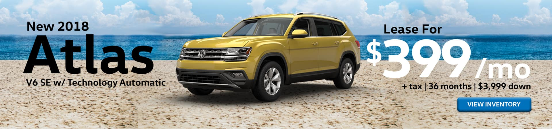Special Lease offer on VW Atlas at Timmons Long Beach