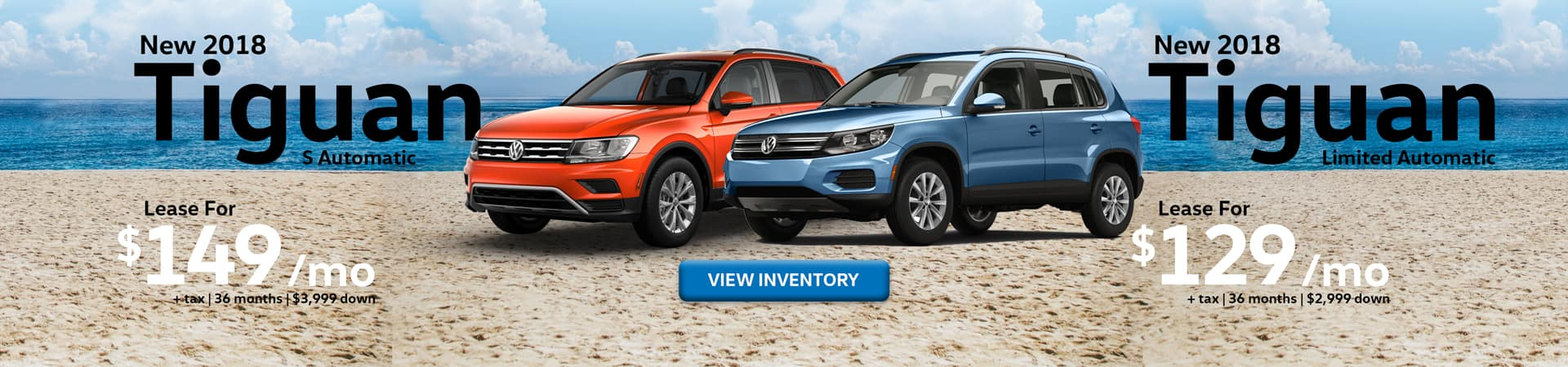 Lease special offers on 2018 Tiguan models at Timmons Long Beach