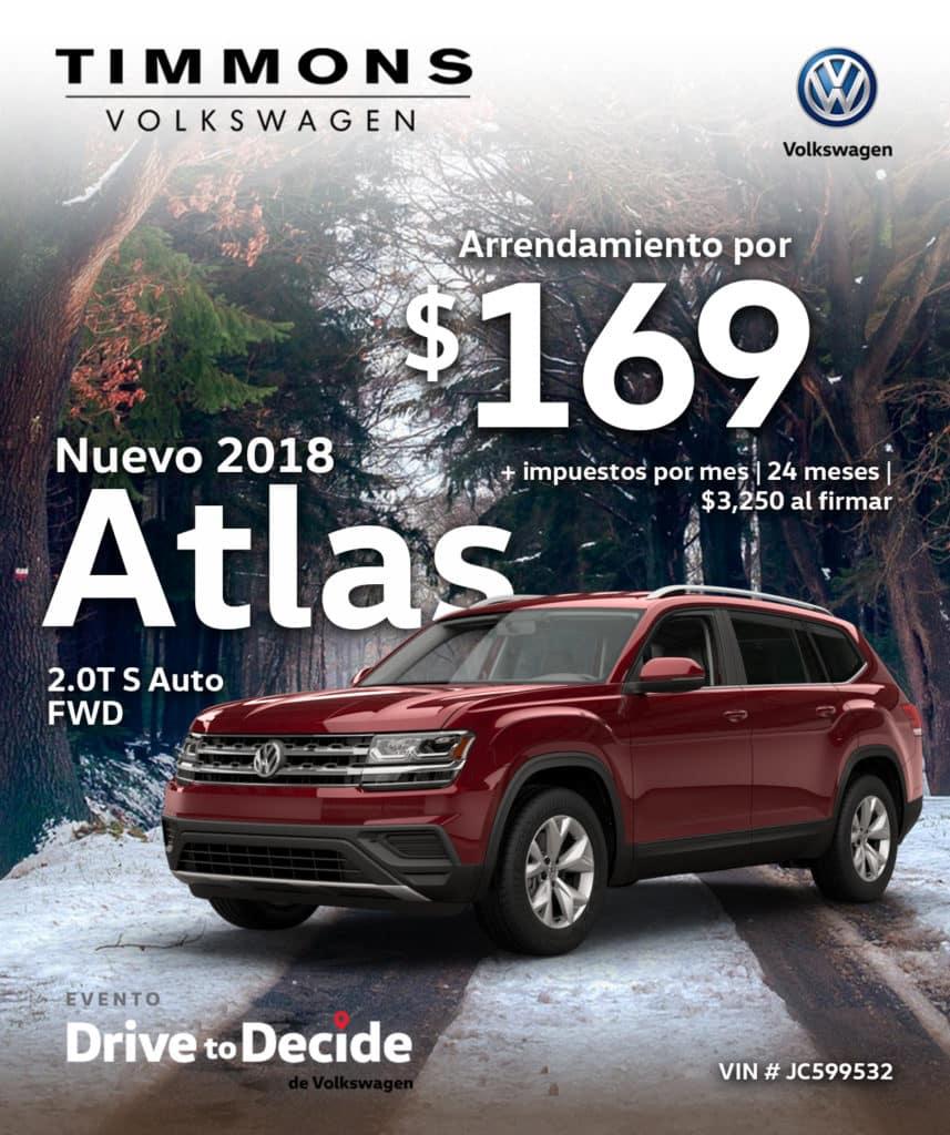 Nuevo 2018 Volkswagen Atlas 2.0T S FWD Automático
