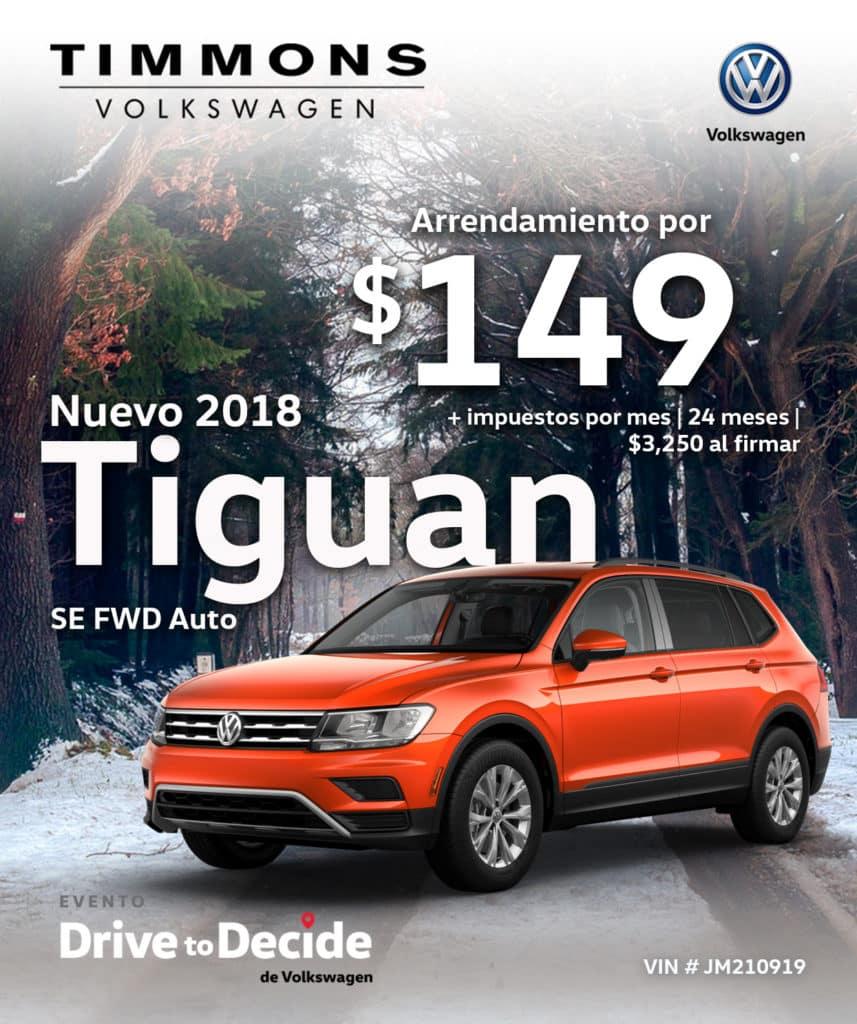 Nuevo 2018 Volkswagen Tiguan 2.0L SE FWD Automático