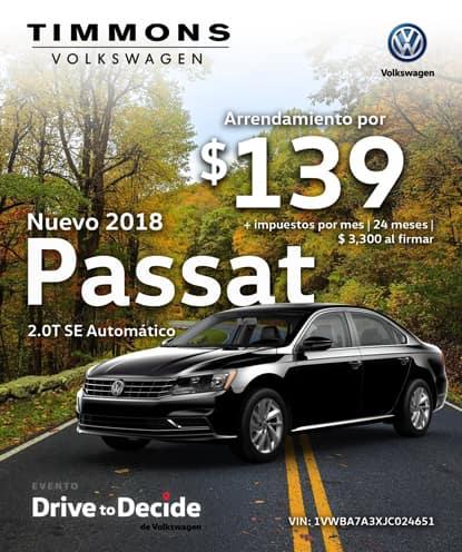 Nuevo 2018 Volkswagen Passat SE Automático