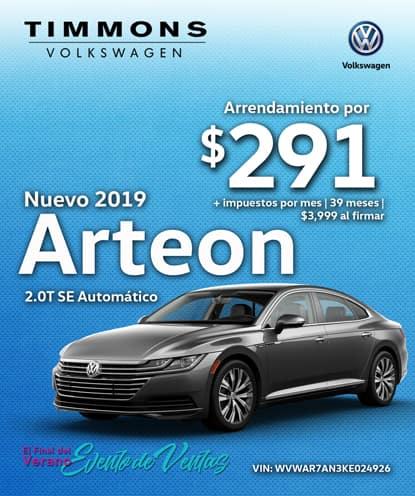 Nuevo 2019 Volkswagen Arteon 2.0T SE FWD Automático