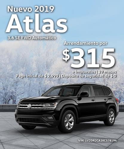 Nuevo 2019 Volkswagen Atlas 3.6 SE FWD Automático