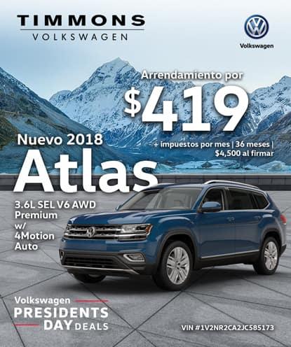 Nuevo 2018 Volkswagen Atlas 3.6L V6 SEL Premium con 4Motion AWD Automatic