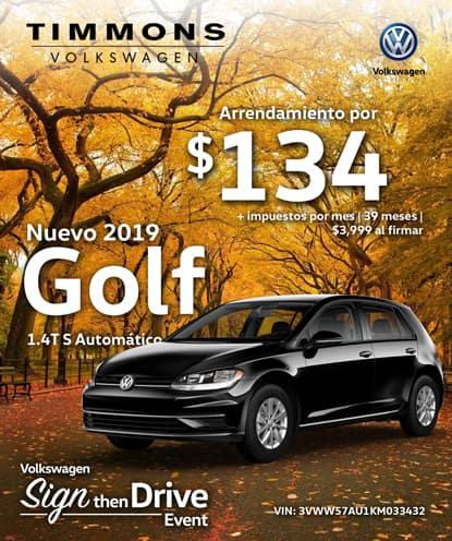 Nuevo 2019 Volkswagen Golf S