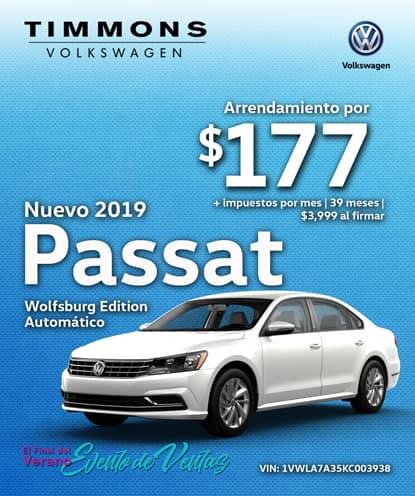 Nuevo 2019 Volkswagen Passat 2.0T Wolfsburg Automático