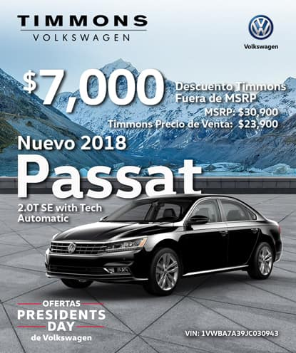 Nuevo 2018 PASSAT SE W / TECH Automático