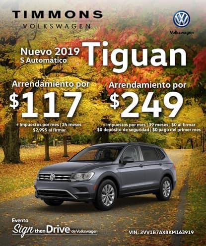 Nuevo 2019 Volkswagen Tiguan S FWD Automático