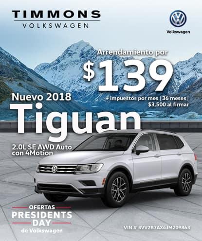 Nuevo 2018 Volkswagen Tiguan 2.0L SE FWD Automático con 4MOTION