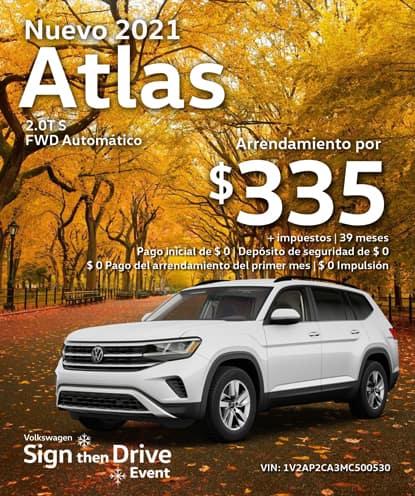 Nuevo 2021 Volkswagen Atlas 2.0T S FWD Automático