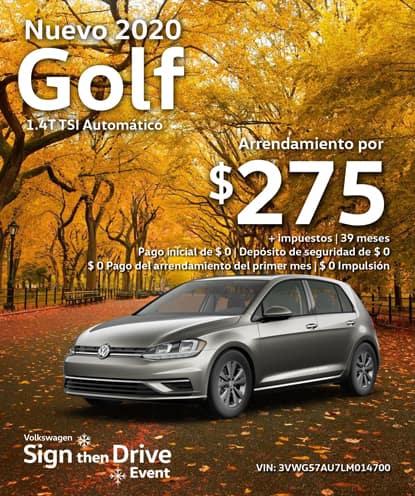 Nuevo 2020 Volkswagen Golf S Automático