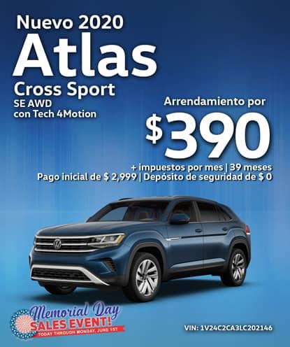 Nuevo 2020 Volkswagen Atlas Cross Sport AWD con Tech 4Motion Automático